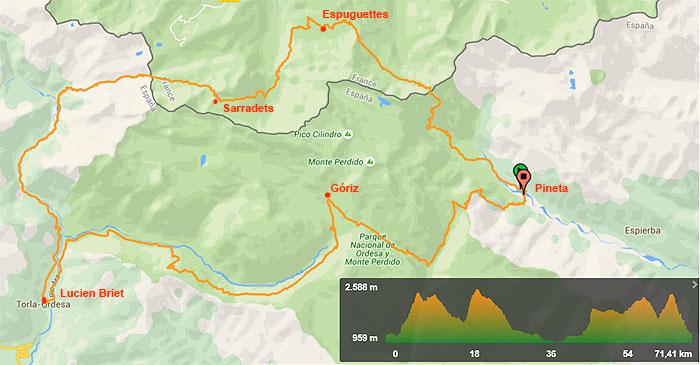 Itinerario Tour Ordesa